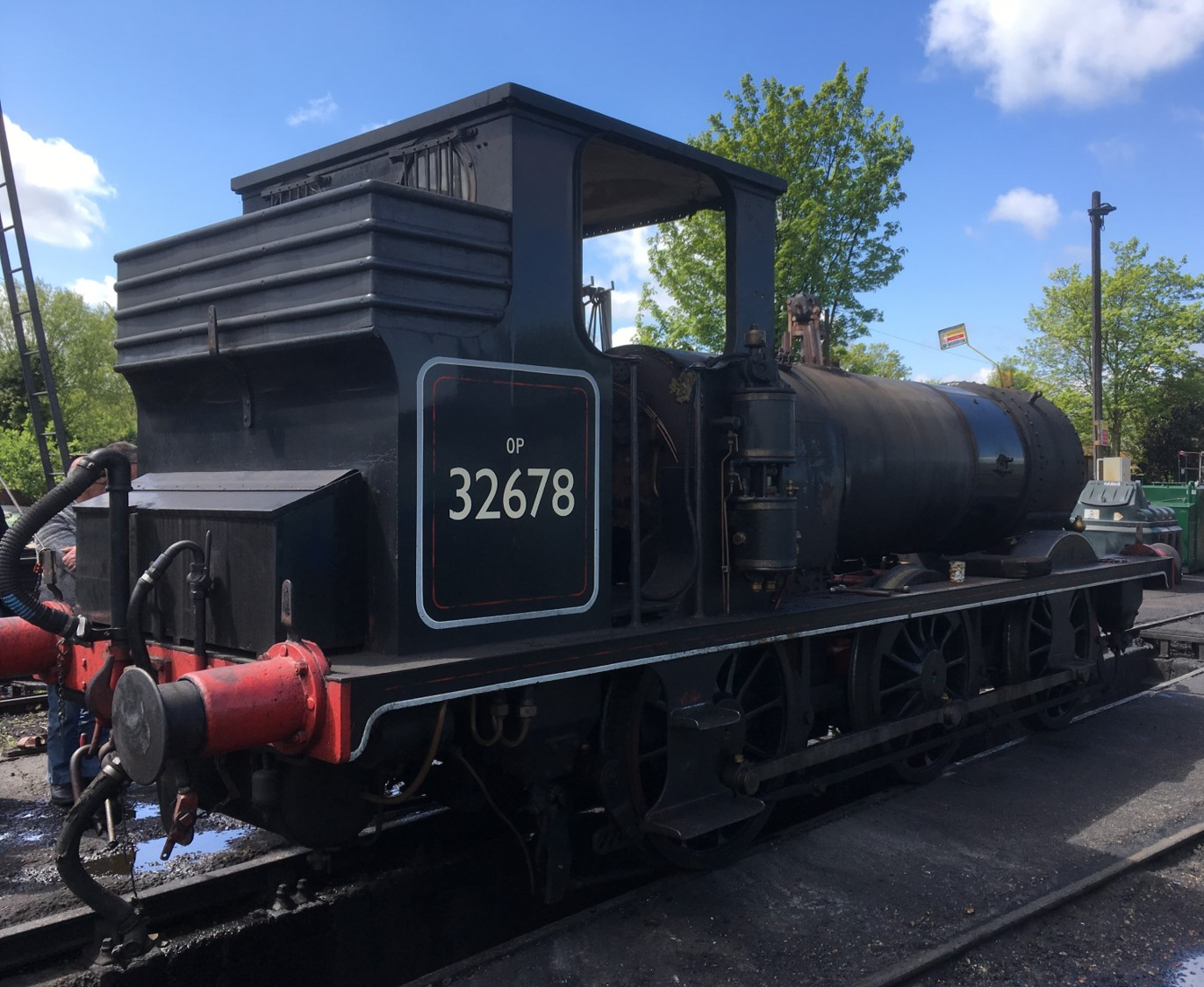 2678 largely dismantled at Rolvenden on 11 May 2019  © Graham Hukins